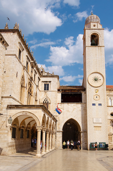 Stock photos of Luza square and bell tower Dubrovnik  - Croatia