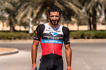 Youcef Reguigui (ALG) Terengganu Inc. TSG Cycling Team before the start of Stage 5 of the Saudi Tour 2020 running 144km from Princess Nourah University to Al Masmak, Saudi Arabia. 8th February 2020. <br /> Picture: ASO/Kåre Dehlie Thorstad   Cyclefile<br /> All photos usage must carry mandatory copyright credit (© Cyclefile   ASO/Kåre Dehlie Thorstad)