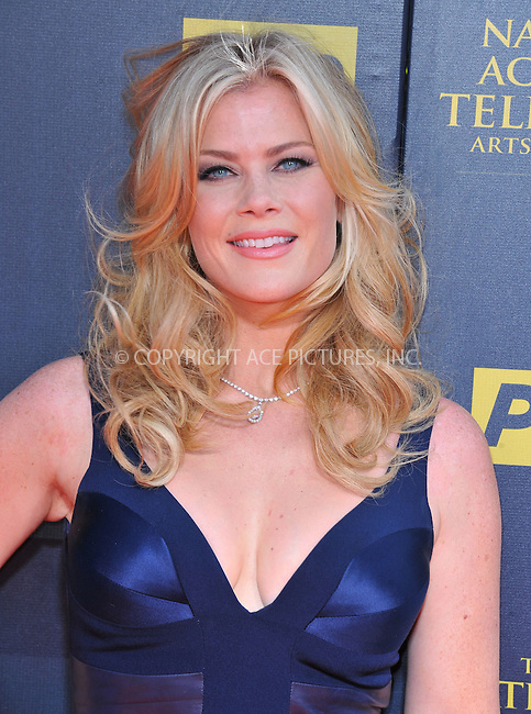WWW.ACEPIXS.COM<br /> <br /> April 26 2015, LA<br /> <br /> Alison Sweeney arriving at The 42nd Annual Daytime Emmy Awards at Warner Bros. Studios on April 26, 2015 in Burbank, California.<br /> <br /> By Line: Peter West/ACE Pictures<br /> <br /> <br /> ACE Pictures, Inc.<br /> tel: 646 769 0430<br /> Email: info@acepixs.com<br /> www.acepixs.com