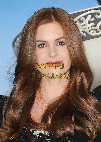 ISLA FISHER.attending a photocall for new animated film 'Rango' at Claridge's Hotel, London., England, UK, 22nd February 2011..portrait headshot black lace beauty .CAP/BEL.©Tom Belcher/Capital Pictures.