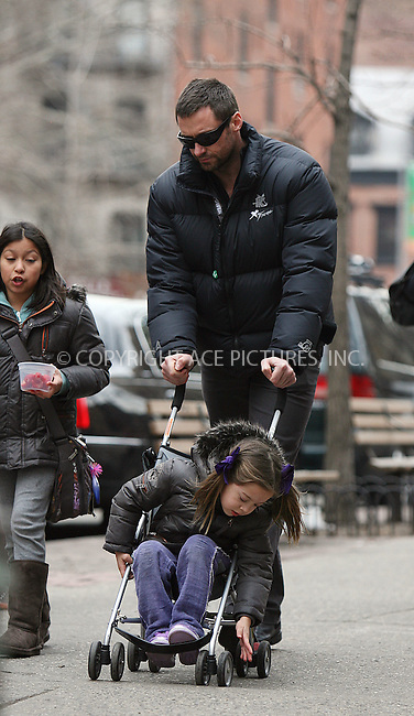 WWW.ACEPIXS.COM ************....February 22 2010, New York City....Actor Hugh Jackman  picks up his daughter Ava from her school in Soho on February 22 2010 in New York City......Please byline: PHILIP VAUGHAN - ACEPIXS.COM.. *** ***  ..Ace Pictures, Inc:  ..tel: (646) 769 0430..e-mail: info@acepixs.com..web: http://www.acepixs.com