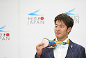 Daiya Seto (JPN), <br /> AUGUST 17, 2016 - Swimming : Japanese Swimming medalist attend a media conference at Ajinomoto National Training Center, Tokyo, Japan. Japanese Swimming players won 2 gold medals, 2 silver medals and 3 bronze medals in the Rio 2016 Olympic Games. (Photo by AFLO SPORT)