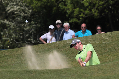 24.05.2012 Wentworth, England. Martin Larid (SCO) in bunker action during day 1 of the  BMW PGA Championship.
