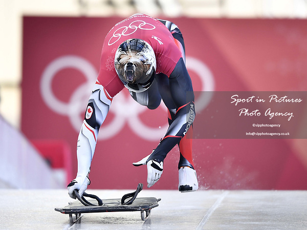Dave Greszczyszyn (CAN). Skeleton training. Alpensia sliding centrePyeongchang2018 winter Olympics. Alpensia. Republic of Korea. 13/02/2018. ~ MANDATORY CREDIT Garry Bowden/SIPPA - NO UNAUTHORISED USE - +44 7837 394578