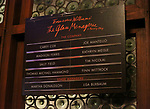 "Lobby cast board for Finn Wittrock, Madison Ferris, Sally Field and Joe Mantello during the Broadway Opening Night Performance for ""The Glass Menagerie'"" at the Belasco Theatre on March 9, 2017 in New York City."