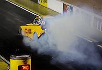 Apr. 5, 2013; Las Vegas, NV, USA: NHRA funny car driver Del Worsham during qualifying for the Summitracing.com Nationals at the Strip at Las Vegas Motor Speedway. Mandatory Credit: Mark J. Rebilas-