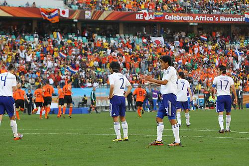 Nakazawa (JPN), .JUNE 19, 2010 - Football : .2010 FIFA World Cup South Africa .Group Match -Group E- .between Netherlands 1-0 Japan .at Durban Stadium, Durban, South Africa. .