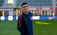WASHINGTON D.C. - OCTOBER 11: Christian Pulisic #10 of the United States during warm ups prior to their Nations League game versus Cuba at Audi Field, on October 11, 2019 in Washington D.C.
