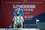 Christian Ahlmann of Germany riding on Caribis Z competes during the EEM Trophy, part of the Longines Masters of Hong Kong on 10 February 2017 at the Asia World Expo in Hong Kong, China. Photo by Juan Serrano / Power Sport Images