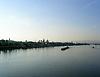 Blick über den Rhein auf Mainz