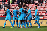 Shaquile Coulthirst of Barnet is congratulated after scoring the first goal during Sheffield United vs Barnet, Emirates FA Cup Football at Bramall Lane on 6th January 2019