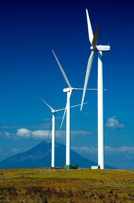 Nicaragua / Rivas / Windmills / Concepcion Volcano