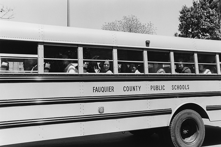 School bus, on May 13, 1996. (Photo by Laura Patterson/CQ Roll Call via Getty Images)