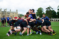 Bath Rugby forwards in action at a maul against the visiting Dragons pack. Bath Rugby pre-season training on August 8, 2018 at Farleigh House in Bath, England. Photo by: Patrick Khachfe / Onside Images