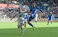 Cardiff City's Danny Ward attempts a shot at goal <br /> <br /> Photographer Ian Cook/CameraSport<br /> <br /> The EFL Sky Bet Championship - Swansea City v Cardiff City - Sunday 27th October 2019 - Liberty Stadium - Swansea<br /> <br /> World Copyright © 2019 CameraSport. All rights reserved. 43 Linden Ave. Countesthorpe. Leicester. England. LE8 5PG - Tel: +44 (0) 116 277 4147 - admin@camerasport.com - www.camerasport.com