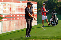 Thomas Pieters (BEL) on the 18th green during the 3rd round at the WGC HSBC Champions 2018, Sheshan Golf CLub, Shanghai, China. 27/10/2018.<br /> Picture Fran Caffrey / Golffile.ie<br /> <br /> All photo usage must carry mandatory copyright credit (&copy; Golffile | Fran Caffrey)