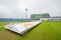 Picture by Allan McKenzie/SWpix.com - 13/04/2018 - Cricket - Specsavers County Championship - Yorkshire County Cricket Club v Essex County Cricket Club - Emerald Headingley Stadium, Leeds, England - Covers staying in place at Headingley prior to the first match of the Specsavers County Championship.