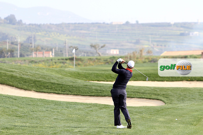 Anthony Snobeck (FRA) on the 2nd on Day 2 of the 2012 Sicilian Open at Verdura Golf and Spa Resort, Sicily, Italy...(Photo Jenny Matthews/www.golffile.ie)