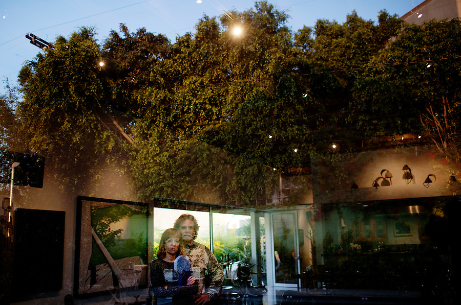 Los Angeles, California, November 14, 2009 - Portrait of Diane and Ernie Wolfe in their home, based on a Quonset hut. The Wolfe's own the Ernie Wolfe Gallery and are the most reknowned African at dealers in the country. ..CREDIT: Daryl Peveto for The Wall Street Journal.Homefront - Ernie Wolfe #1348.
