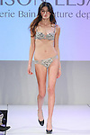 Model walks runway in lingerie from Maison Lejaby, during the Lingerie Fashion Night - Romancing The Runway show, by CurvExpo and Lycra on February 23, 2015.