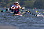 Rowing, China Lightweight women's double, Wenyi Huang, Fehong Pan, stroke, LW2x, Chinese rowing, 2010 FISA World Rowing Championships, Lake Karapiro, Hamilton, New Zealand,