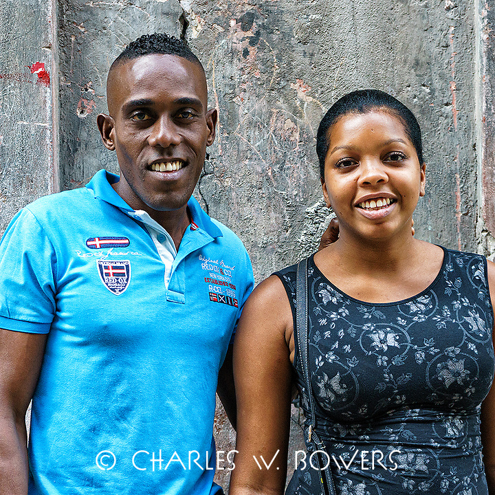 Faces Of Cuba - Newly weds wanted their picture taken.<br />