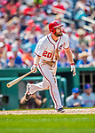 29 April 2017: Washington Nationals second baseman Daniel Murphy at bat in the 5th inning against the New York Mets at Nationals Park in Washington, DC. The Mets defeated the Nationals 5-3 to take the second game of their 3-game weekend series. Mandatory Credit: Ed Wolfstein Photo *** RAW (NEF) Image File Available ***