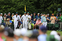 Justin Thomas (USA) on the 14th tee during the final round at the The Masters , Augusta National, Augusta, Georgia, USA. 14/04/2019.<br /> Picture Fran Caffrey / Golffile.ie<br /> <br /> All photo usage must carry mandatory copyright credit (© Golffile | Fran Caffrey)