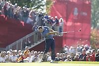 Sergio Garcia (Team Europe) on the 7th tee during the Friday afternoon Fourball at the Ryder Cup, Hazeltine national Golf Club, Chaska, Minnesota, USA.  30/09/2016<br /> Picture: Golffile | Fran Caffrey<br /> <br /> <br /> All photo usage must carry mandatory copyright credit (&copy; Golffile | Fran Caffrey)