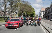 peloton leaving Liège <br /> <br /> 103rd Liège-Bastogne-Liège 2017 (1.UWT)<br /> One Day Race: Liège › Ans (258km)