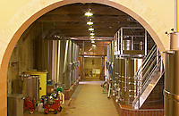 the winery  with stainless steel fermentation tanks - Chateau Grand Mayne, Saint Emilion, Bordeaux