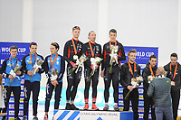 SPEEDSKATING: SALT LAKE CITY: 08-12-2017, Utah Olympic Oval, ISU World Cup, Podium Team Pursuit Men, Team Italy, Team Canada, Team New Zealand, ©photo Martin de Jong