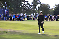 Tom Lewis (ENG) on the 2nd during Round 3 of the Sky Sports British Masters at Walton Heath Golf Club in Tadworth, Surrey, England on Saturday 13th Oct 2018.<br /> Picture:  Thos Caffrey | Golffile