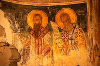 Byzantine Frescos  of the church of the Metamorphosis, Paliachora,  Aegina, Greek Saronic Islands