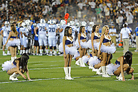 1 October 2011:  FIU's Golden Dazzlers entertain the crowd during a time-out as the Duke University Blue Devils defeated the FIU Golden Panthers, 31-27, at FIU Stadium in Miami, Florida.