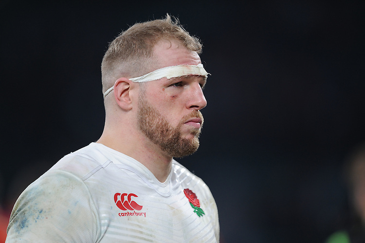 A serious looking James Haskell of England during the RBS 6 Nations match between England and Wales at Twickenham Stadium on Saturday 12th March 2016 (Photo: Rob Munro/Stewart Communications)