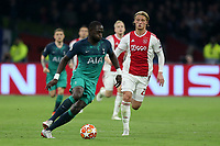 Moussa Sissoko of Tottenham Hotspur and Kasper Dolberg of Ajax during AFC Ajax vs Tottenham Hotspur, UEFA Champions League Football at the Johan Cruyff Arena on 8th May 2019