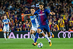 Andre Filipe Tavares Gomes (R) of FC Barcelona fights for the ball with Sergio Garcia de la Fuente (L) of RCD Espanyol during the La Liga match between FC Barcelona vs RCD Espanyol at the Camp Nou on 09 September 2017 in Barcelona, Spain. Photo by Vicens Gimenez / Power Sport Images