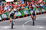 Sam Bennett (IRL) Bora-Hansgrohe wins Stage 14, ahead of Maximiliano Richeze (ARG) Deceuninck-Quick Step, of La Vuelta 2019 running 188km from San Vicente de la Barquera to Oviedo, Spain. 7th September 2019.<br /> Picture: Dario Belingheri/BettiniPhoto | Cyclefile<br /> <br /> All photos usage must carry mandatory copyright credit (© Cyclefile | Dario Belingheri/BettiniPhoto)