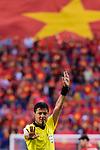 FIFA Referee Alireza Faghani of Iran gestures during the AFC Asian Cup UAE 2019 Round of 16 match between Jordan (JOR) and Vietnam (VIE) at Al Maktoum Stadium on 20 January 2019 in Dubai, United Arab Emirates. Photo by Marcio Rodrigo Machado / Power Sport Images