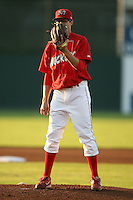 September 1, 2009:  Pitcher Joe Kelly of the Batavia Muckdogs delivers a pitch during a game at Dwyer Stadium in Batavia, NY.  The Muckdogs are the Short-Season Class-A affiliate of the St. Louis Cardinals.  Photo By Mike Janes/Four Seam Images