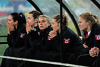 Canada replacements wait in the dugout during the 2017 International Women's Rugby Series rugby match between the NZ Black Ferns and Canada at Westpac Stadium in Wellington, New Zealand on Friday, 9 June 2017. Photo: Dave Lintott / lintottphoto.co.nz