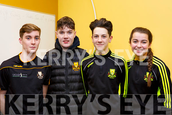 The 2018 winners of  Kerry Scor Na nOg representing Dr Crokes, l-r, Mark Cooper, Jamie Muldoon, Cillian Hickey and Treasa O'Sullivan.