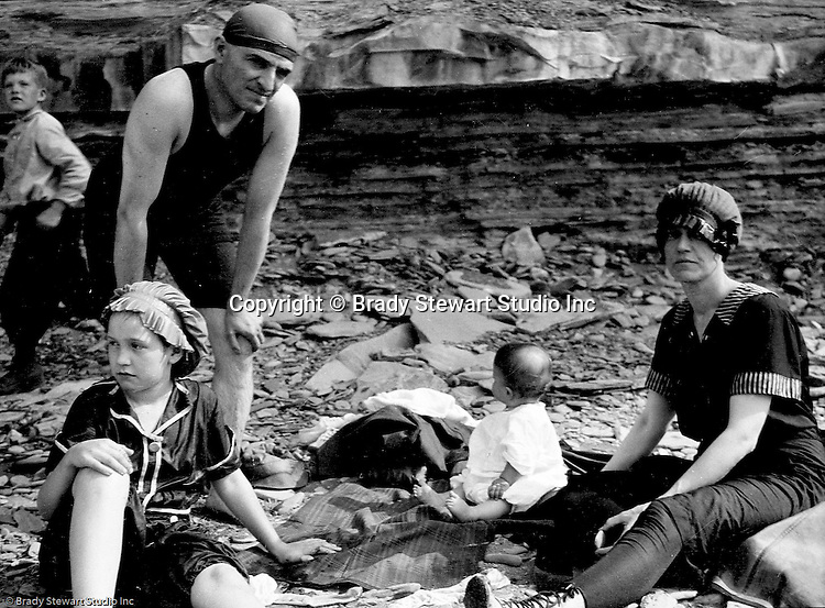 Erie PA:  Stewart's vacationing on Lake Erie with Sarah Stewart's family - 1917.  Helen Stewart was just 6 months old when they traveled up to Lake Erie