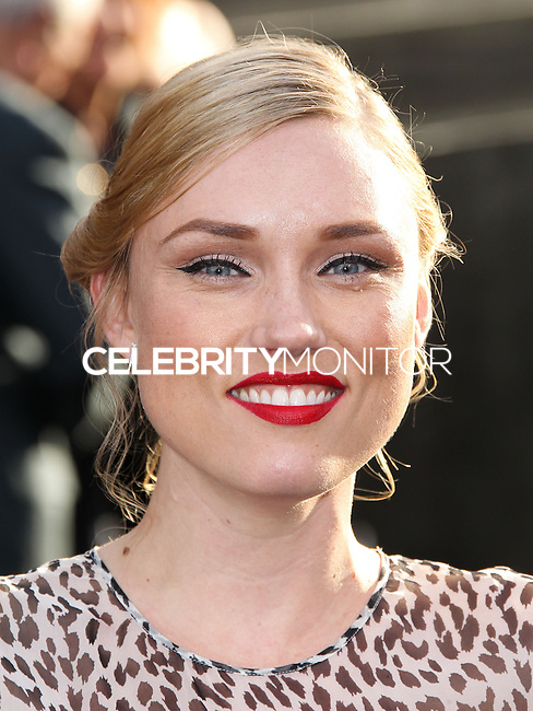 "HOLLYWOOD, LOS ANGELES, CA, USA - MAY 08: Clare Grant at the Los Angeles Premiere Of Warner Bros. Pictures And Legendary Pictures' ""Godzilla"" held at Dolby Theatre on May 8, 2014 in Hollywood, Los Angeles, California, United States. (Photo by Xavier Collin/Celebrity Monitor)"