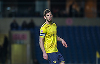 Jake Wright of Oxford United during the Sky Bet League 2 match between Oxford United and Northampton Town at the Kassam Stadium, Oxford, England on 16 February 2016. Photo by Andy Rowland.