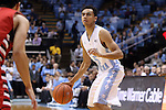 07 November 2014: North Carolina's Marcus Paige (5). The University of North Carolina Tar Heels played the Belmont Abbey College Crusaders in an NCAA Division I Men's basketball exhibition game at the Dean E. Smith Center in Chapel Hill, North Carolina. UNC won the game 112-34.