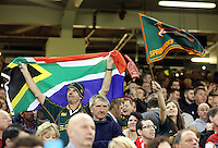 Pictured: Two South Africa supporters Saturday 29 November 2014<br />