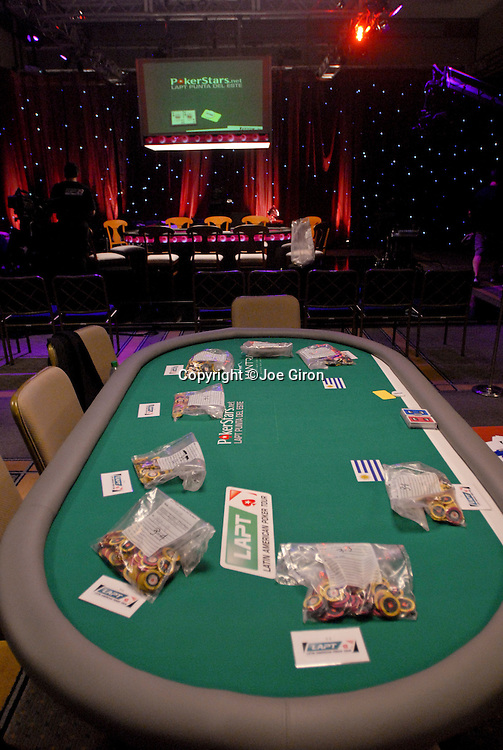 A view of the torunament area on day 2, which included the TV feature table.