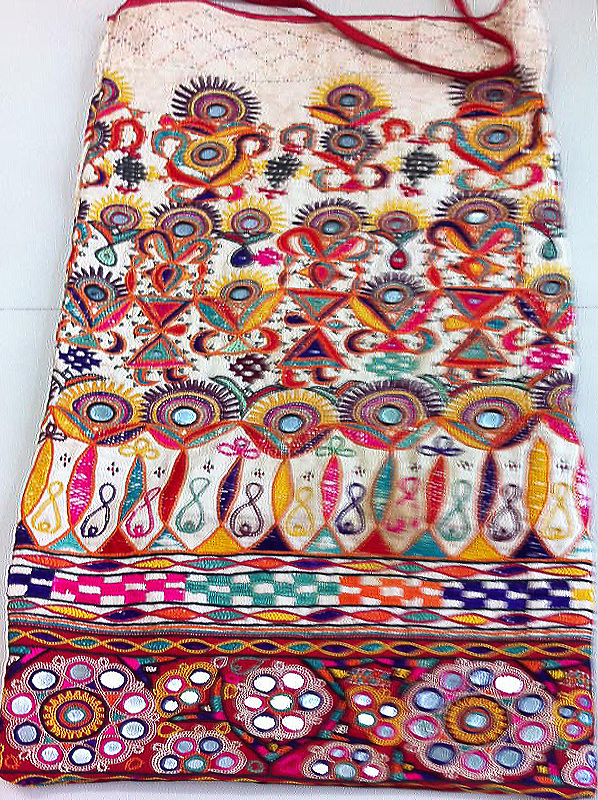 VNTAGE DOWRY BAG FROM THE AHIR SUTHRA COMMUNITY OF KUTCH, GUJARAT. circa 1940